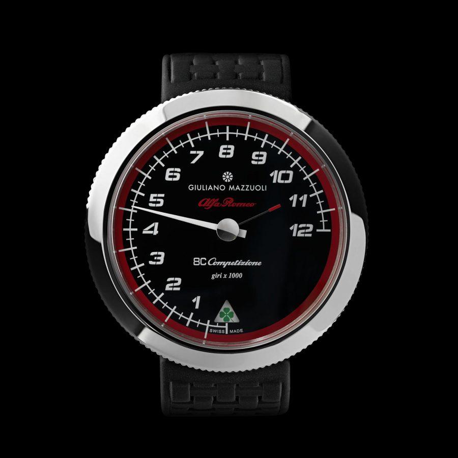 Contagiri polished DLC watch front
