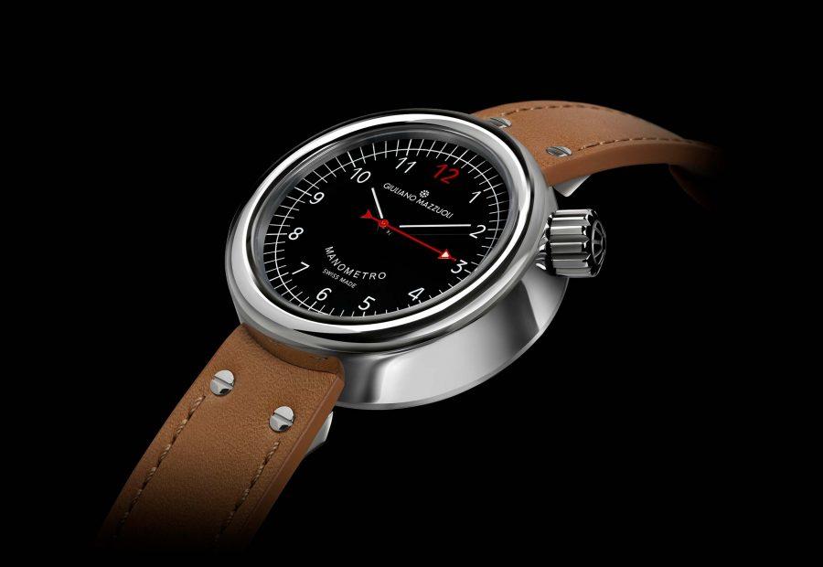 Manometro watch polished black profile