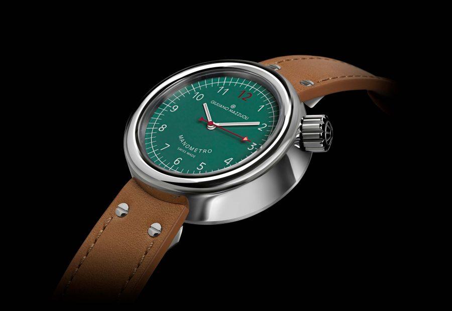 Manometro watch polished green profile