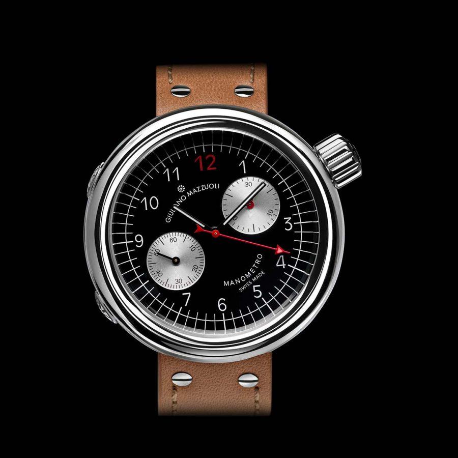 Manometro watch chronograph black front